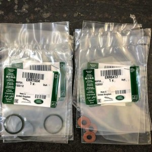 ERR6417G / ERR7004G – Genuine TD5 Injector Washer & O Ring Kit